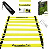 Endurance Pro Agility Ladder Speed Training Equipment With Footwork Ladder Drills eBook and Bag Ideal For Football Drills Basketball Drills Best High Intensity Full Size Agility Training Speed Ladder