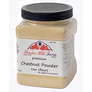 Chestnut Flour Powder (Raw) by Hoosier Hill Farm, 1 lb.