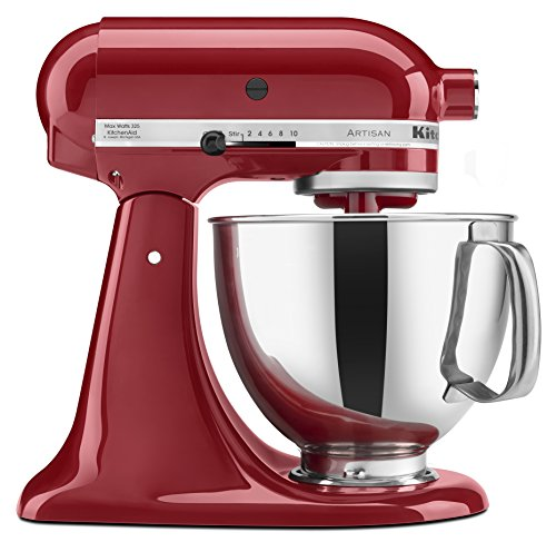 KitchenAid KSM150PSER 5-Qt. Artisan Series with Pouring Shield – Empire Red