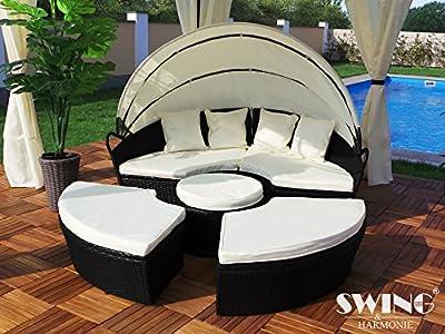 Polyrattan Sonneninsel 180cm Sonnenliege Gartenliege Rattan Insel Liege Sitzgruppe von Swing & Harmonie auf Gartenmöbel von Du und Dein Garten