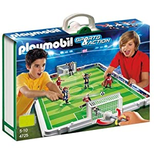 itm Playmobil  Take Along Portable Table Football Pitch Soccer Match NEW