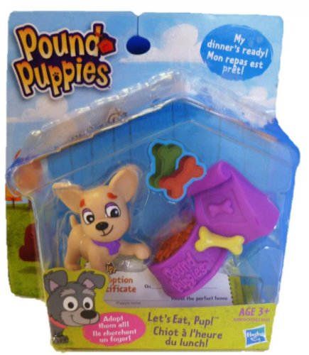Pound Puppies Figure Set, Let's Eat, Pup! - 1