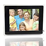 MicroMall(TM) 12-inch Wide Screen High Resolution Multi-media Digital Photo Frame Mp3 Mp4 Movie with Remote Control Black