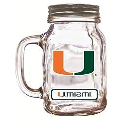 NCAA Miami Hurricanes Mason Jar, 20-Ounce