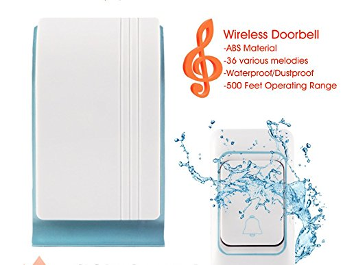 Great Features Of Hysada Doorbell ABS Material Waterproof/Dustproof Portable Door-Bell Kit,500 Feet ...
