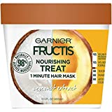 Garnier Fructis Nourishing 1 Minute Hair Mask + Coconut, 13.5 fl. oz (Pack of 2)