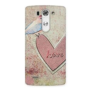 Premium Bird On Heart Print Back Case Cover for LG G3 Mini