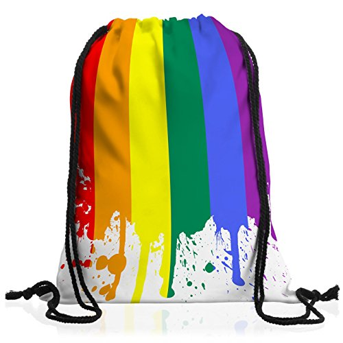 style3 regenbogenflagge rucksack tasche turnbeutel sport jute beutel. Black Bedroom Furniture Sets. Home Design Ideas