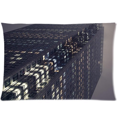 london-fog-high-buildings-office-zippered-pillow-cases-cover-20x30-inch