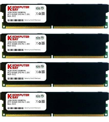 Komputerbay KB_16GB_4X4GB_DDR2_800MHZ_DIMM_HS Mémoire RAM
