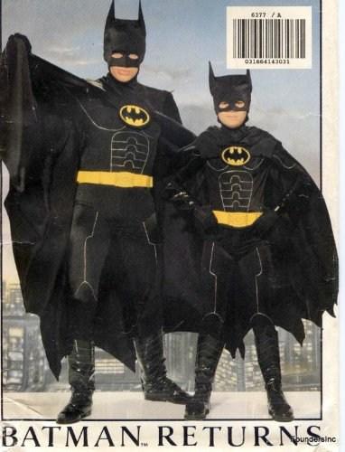 Butterick 6377 Batman Returns Costume Pattern Child Sizes Small to Large (Chest 26 to 32)