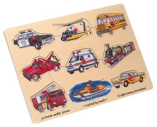 Wooden Transportation 9-piece Peg Puzzle - 1