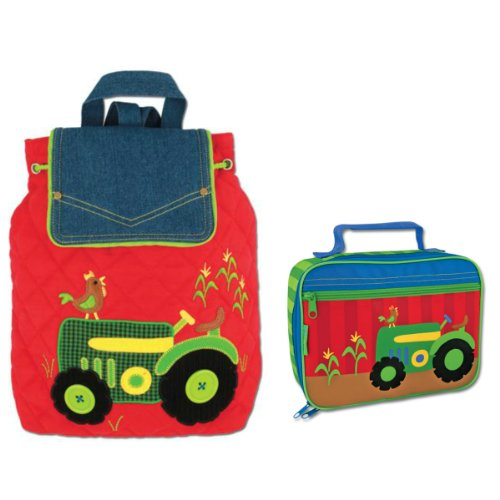 Stephen Joseph Signature Tractor Backpack And Lunch Box - Boys Backpacks front-1025590