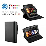 Exact 360 degree Rotary case for Amazon Kindle Fire HD 7 Black(with Auto Sleep/Wake) ~ Exact