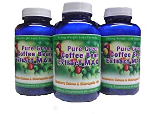 Pure Green Coffee Bean Extract Max Strongest Diet Pill 910mg Weight Loss Formula Green Coffee Bean Extract 800mg 100mg Raspberry Ketones Downloadable Food Journal Included Contains Up To 45 To 50 Chlorogenic Acid 3 Month Supply by Diet Health Solutions