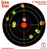 "60 Pack - 6"" Reactive Targets - GlowShot - Multi Color - See Your Hits Instantly - Gun & Rifle Targets - Glow Shot"