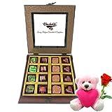 Assorted Chocolates Gift Box With Teddy And Rose - Chocholik Belgium Chocolates - B01960UUOU
