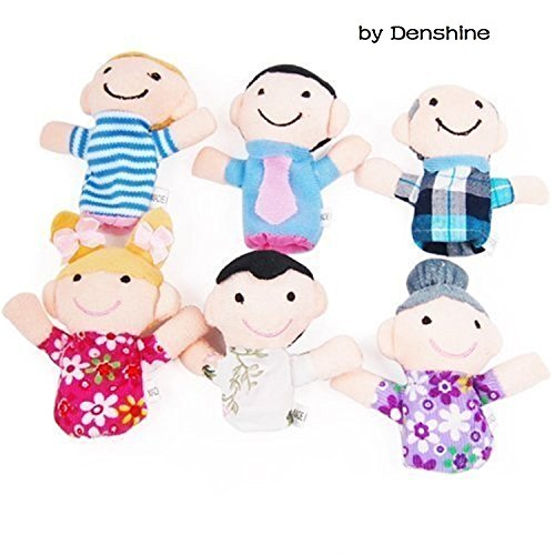 6PCS A SET Finger Puppet/Dolls/Toys Story-telling Props/Tools Toy Model Babies/Kids/Children Toys,Family - 1