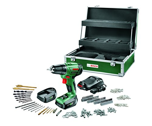 Bosch-DIY-Akku-Bohrschrauber-PSR-144-LI-Toolbox-2-Akku-Ladegert-241-tlg-Zubehr-Set-Toolbox-Karton-144-V-15-Ah-max-Bohr--Holz-20-mm-Stahl-6-mm