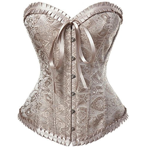 Sexy4Lady Women's Palace Butterfly Bow Brocade Corset
