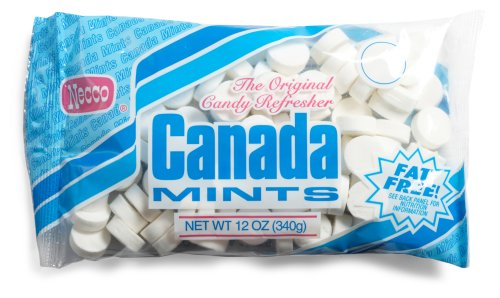 Necco Canada Mints, The Original Candy Refresher, 12-Ounce Bags (Pack of 12)