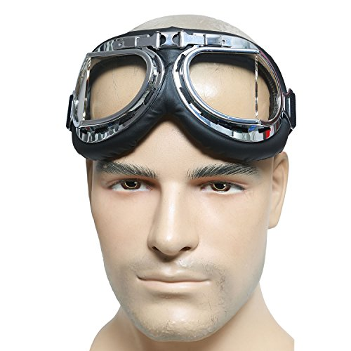 Mad-Max Nux Goggles Vintage Anti-dust Motorcycle Glasses Adjustable Strap 4