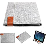 Inateck 2 in 1 Apple iPad Air (2013-2014 Version) Case Cover Felt Sleeve Carrying Protector Case Bag for Apple iPad Air (5th generation iPad), iPad Air 2, Portable Stand for Tablets