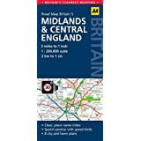 AA Road Map Britain Midlands & Central England