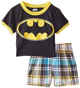 Warner Bros. Boys' 2pc Top and Plaid Short Set at Gotham City Store