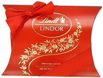 Lindt LINDOR Milk Chocolate Truffle Pillow Box Gift, 9.3 oz.