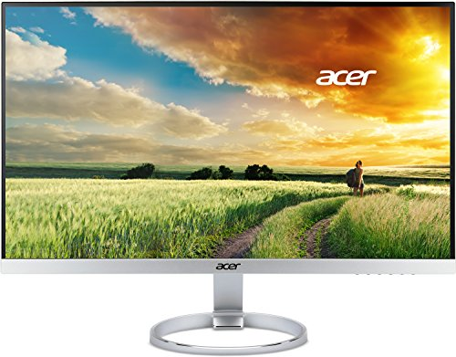 """Acer H277 Hsmidx Monitor 27"""" LED, Tecnologia IPS, Full HD, Risoluzione 1920 x 1080, Luminosità 250 cd/m2, Tempo di Risposta 4 ms, VGA, DVI, HDMI, DTS Sound, Nero/Argento"""
