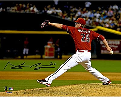 "Archie Bradley Arizona Diamondbacks Autographed 8"" x 10"" Red Pitching Photograph - Fanatics Authentic Certified"