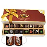 Chocholik Belgium Chocolates - Amazing Combination Of 8 Dark And 8 Milk Chocolate Box With Diwali Special Coffee... - B015RB87BA