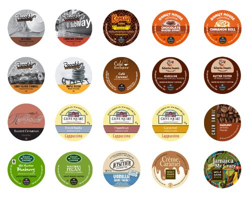Crazy Cups Flavored Gift Sampler, K-Cup Portion