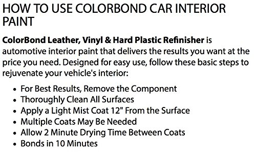 ray off white lvp leather vinyl hard plastic refinisher spray paint. Black Bedroom Furniture Sets. Home Design Ideas