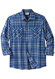 Kingsize Mens Big & Tall Double-Brushed Plaid Flannel Shirt