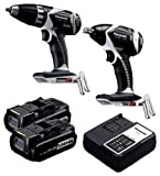 Panasonic EYC105LR Cordless, Battery Powered, Rechargeable 14.4V Drill Driver / Impact Wrench Combo Kit