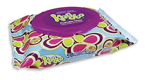 buy Kandoo Flushable 50 Sensitive Wipes Soft Tub (Pack of 12) for sale
