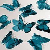 Butterfly 3D Translucent Decoration 15 TEAL Butterflies