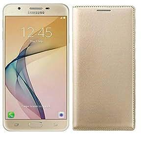 AVICA™ Premium Leather Flip Case Cover For Samsung Galaxy J7 Prime GOLD