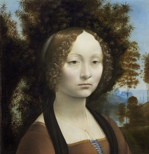 "Ginevra De Benci By Leonardo Da Vinci Canvas Wall Art , Gallery Wrapped Canvas Print - Ready To Hang On Wall 20H X 20W"" front-495350"