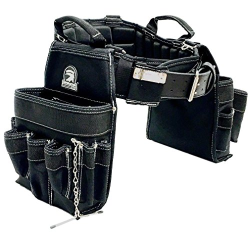 TradeGear Large Electrician's Combo Belt & Bags - MEASURE WAIST WITH CLOTHING ON FOR MORE ACCURATE FITTING OF BELT (35