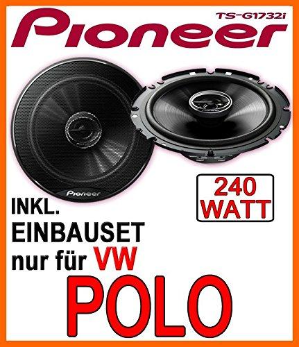 VW-Polo-9N-9N3-Lautsprecher-Pioneer-TS-G1732i-16cm-Einbauset