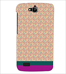 PrintDhaba Floral Pattern D-1883 Back Case Cover for HUAWEI HONOR HOLLY (Multi-Coloured)