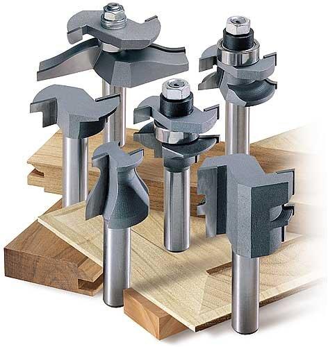 MLCS 8389 Woodworking Pro Cabinetmaker Router Bit Set with Undercutter, 6-Piece
