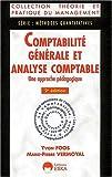 echange, troc Foos /Vermoyal - Comptabilite generale et analyse comptable (2e ed.). une approche pedagogique