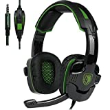SADES sa930 Wired Gaming Headset with Microphone for Pc/Mac/Xbox One/Cell Phone/Ps4/Table(green)