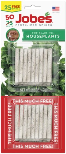 Jobe's 5001T Houseplant Indoor Fertilizer Food Spikes, 50 Pack