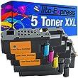 PlatinumSerie® 5x Toner-Patrone XXL kompatibel für Dell 1250 1250C 1350 CNW 1355 C1760 NW C1765