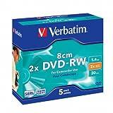 Verbatim 43514 1.4GB 8cm DVD-RW - Slim Case 5 Pack